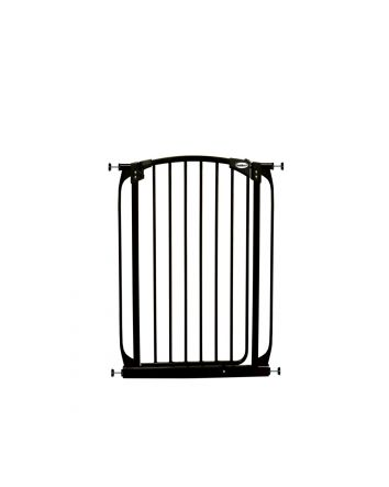 EXTRA-TALL SWING CLOSED SECURITY GATE - BLACK